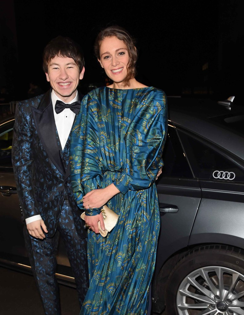 Barry keoghan & ariane labed arrive in an audi at the ee british academy film awards at the royal albert hall, london, sunday 10 february 2019