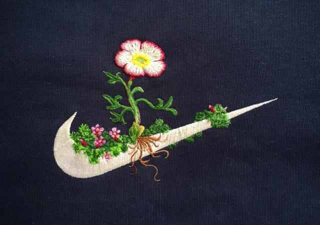 James merry, nike + jöklasoley, 2015, embroidered sweatshirt