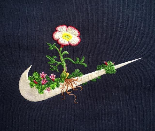 James merry, nike + jöklasoley, 2015, embroidered sweatshirt
