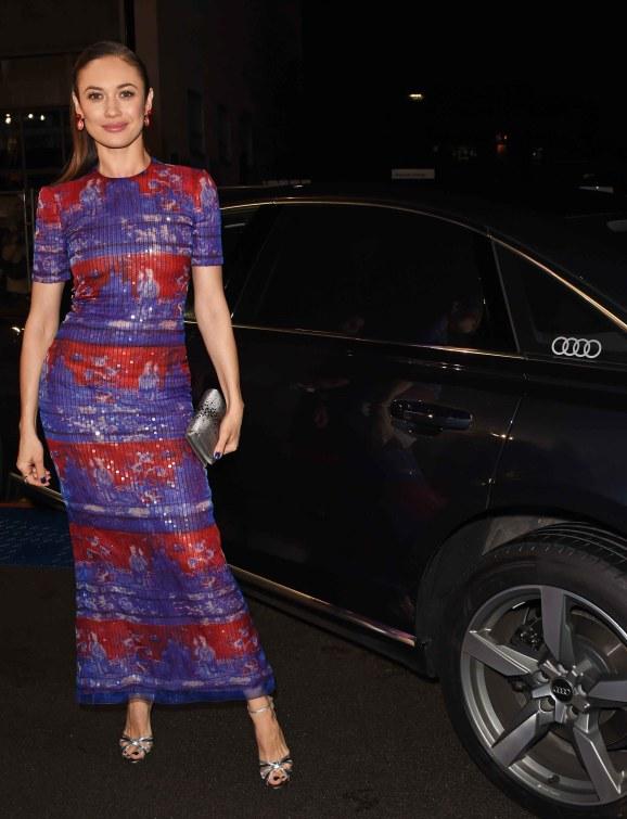 Olga kurylenko arrives in an audi at the ee british academy film awards at the royal albert hall, london, sunday 10 february 2019