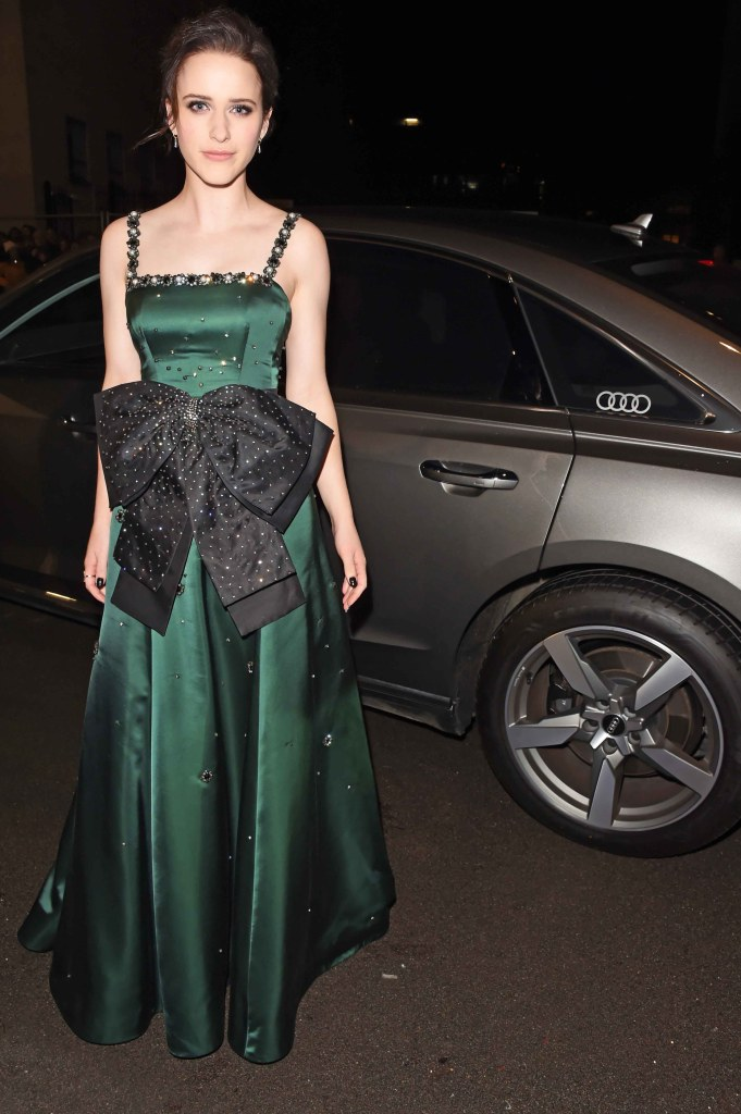 Rachel brosnahan arrives in an audi at the ee british academy film awards at the royal albert hall, london, sunday 10 february 2019 (2)
