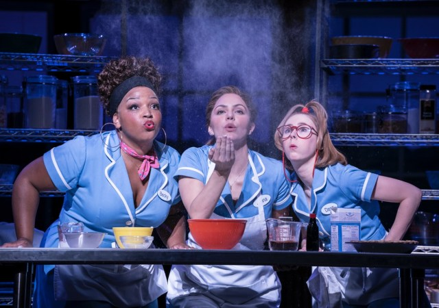 Waitress adelphi theatre marisha wallace becky katharine mcphee jenna and laura baldwin dawn photographer johan persson