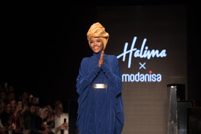 Halima x modanisa at istanbul modest fashion week 2019