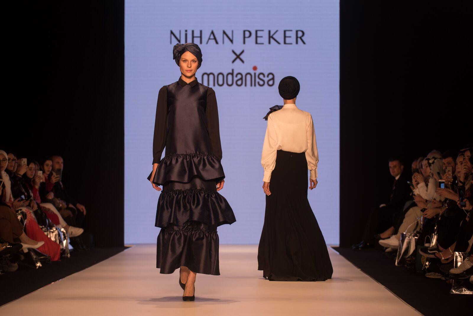 Nihan peker at istanbul modest fashion week 2019 day 1