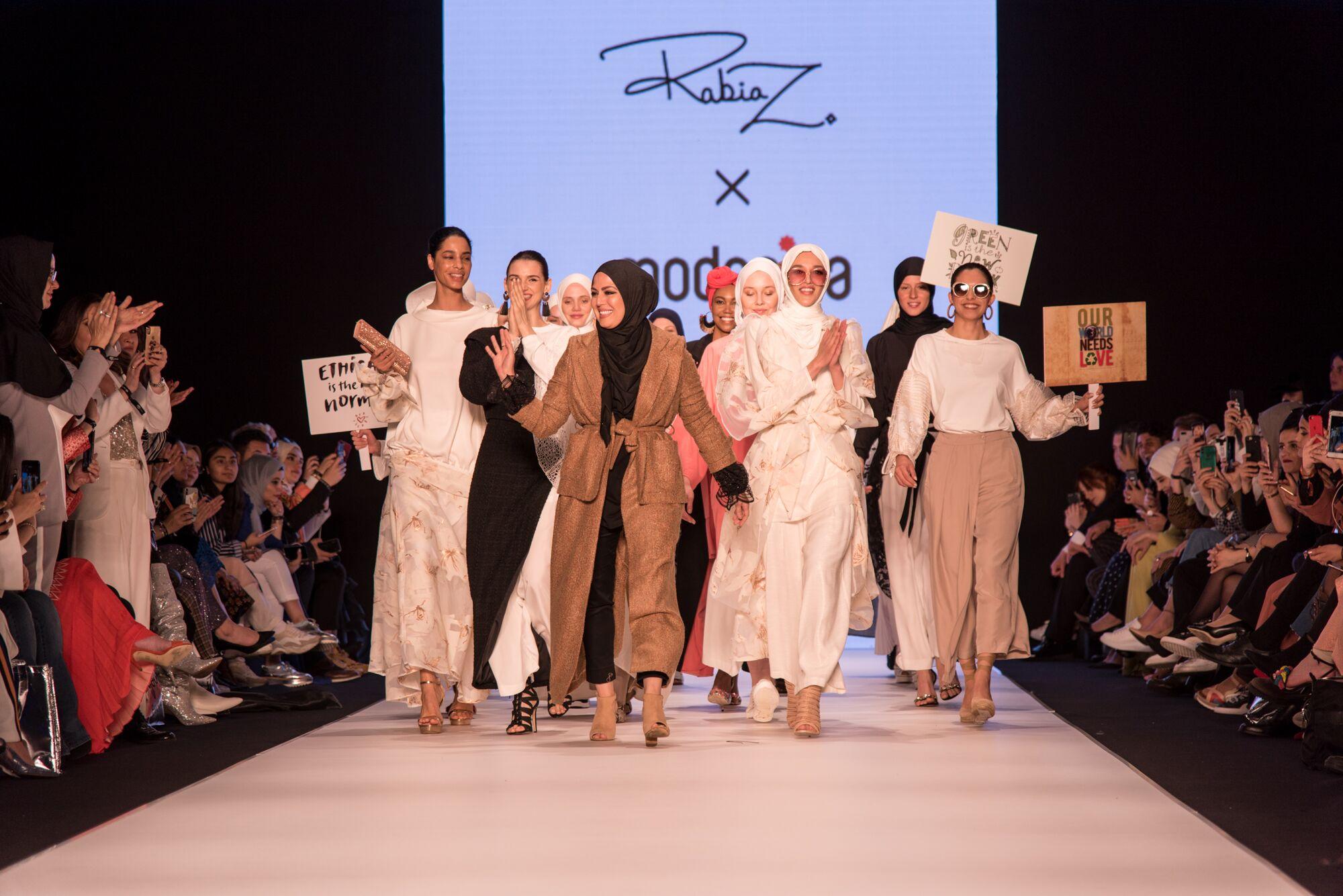 Rabia z at istanbul modest fashion week 2019 day 1