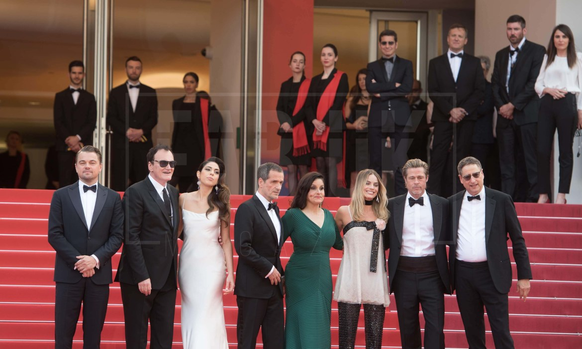 The cast of 'once upon a time....in hollywood at Cannes