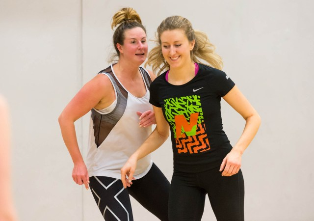 Two women playing netball (c) sport england 1