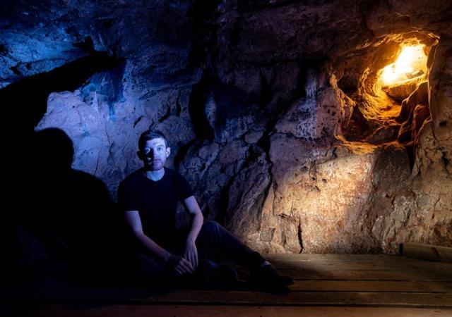 Alanjames burns, creswell crags cave, 2019.