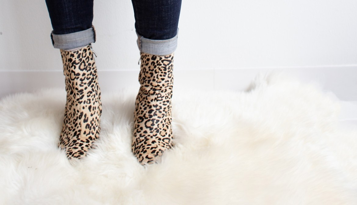 Animal print bold about boots