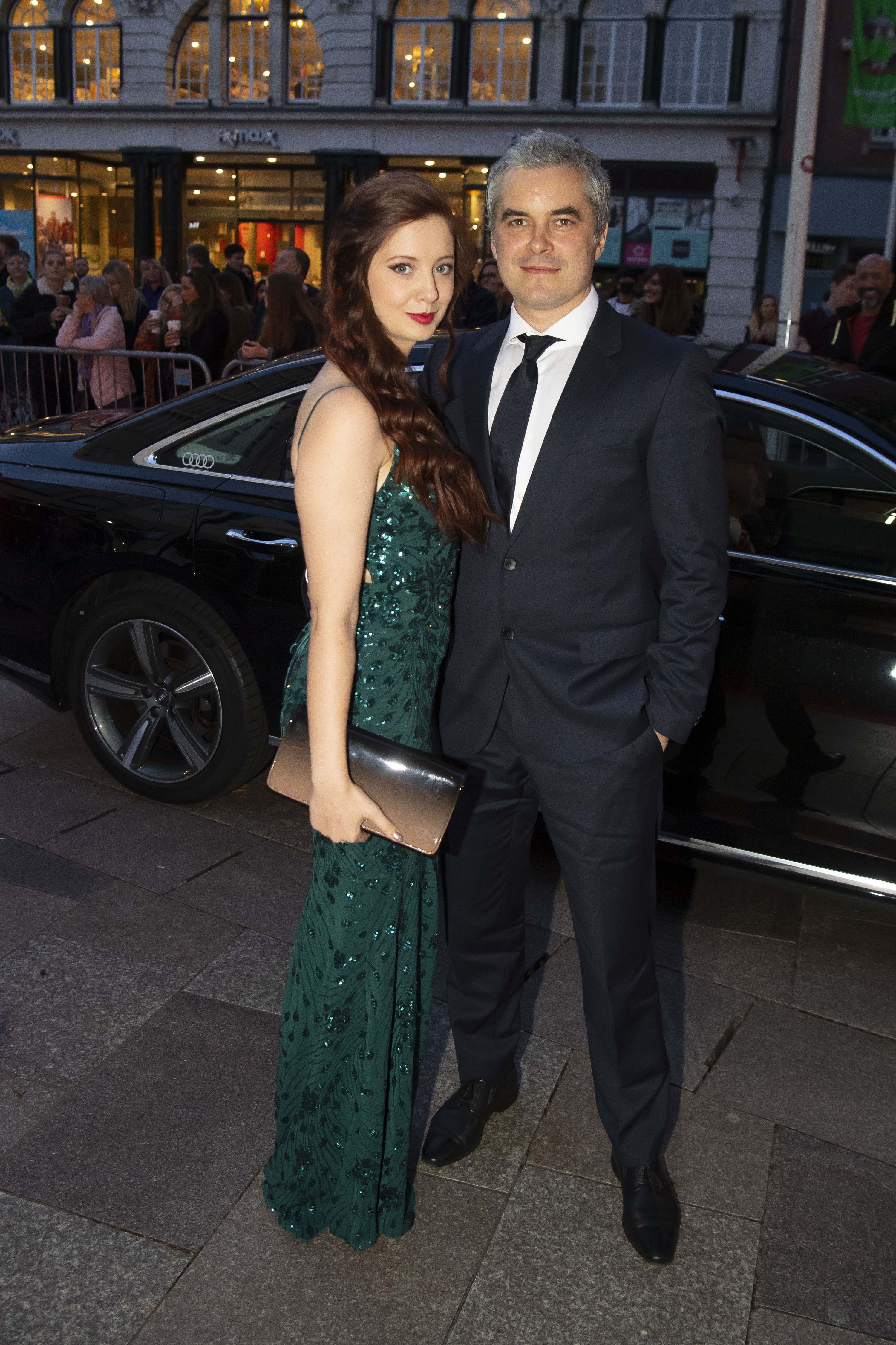 Trystan-Gavelle-Guest-arrive-in-an-Audi-at-the-British-Academy-Cymru-Awards-2019-Cardiff-Sunday-13-October-2019