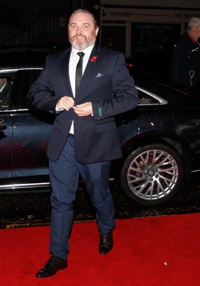 Alex ferns arrives in an audi at the british academy scotland awards 2019, glasgow, sunday 03 november 2019