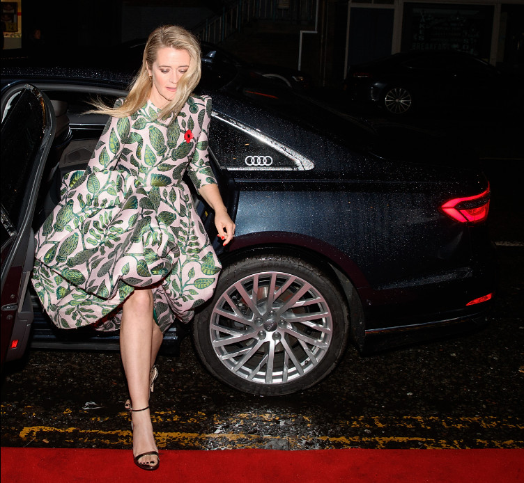 Edith bowman arrives in an audi at the british academy scotland awards 2019, glasgow, sunday 03 november 2019