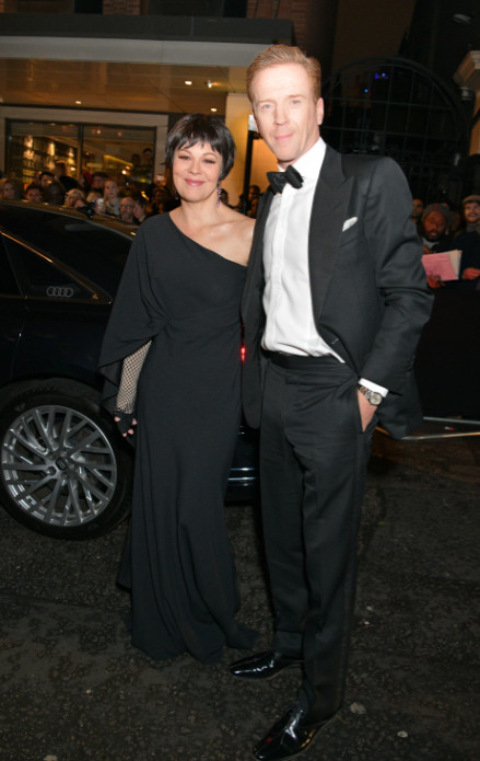 Helen mccrory & damien lewis arrive in an audi at the evening standard theatre awards at the london coliseum on sunday 24 november 2019