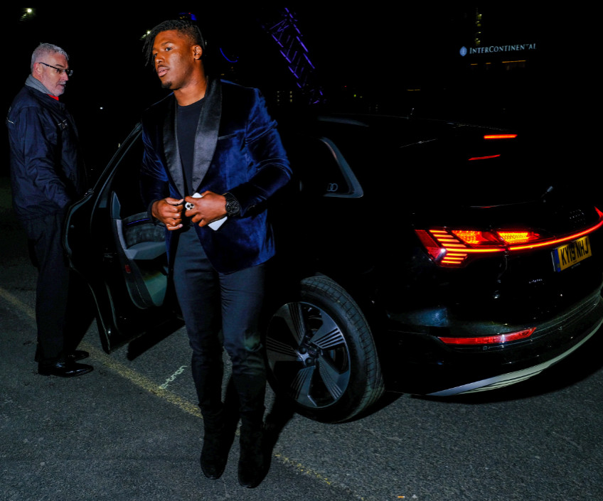 Ryan russell arrives in an audi at the gay times honours 500 at magazine london on thursday 21 november 2019