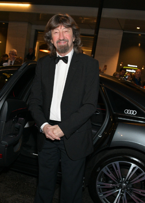Trevor nunn arrives in an audi at the evening standard theatre awards at the london coliseum on sunday 24 november 2019