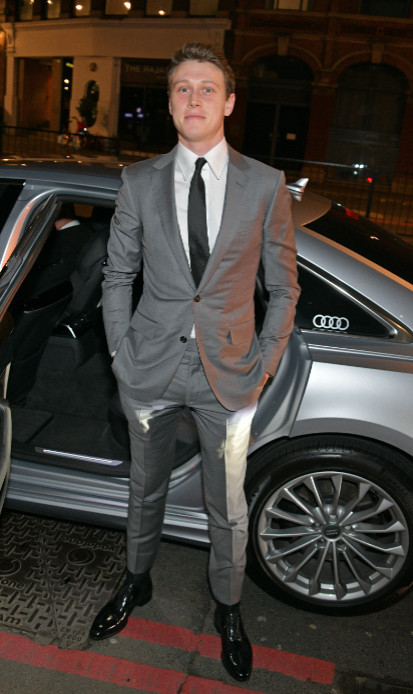 George mackay arrives in an audi at the british independent film awards at old billingsgate, london, on sunday 01 december 2019
