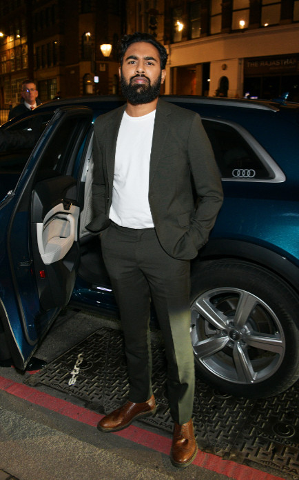 Himesh patel arrives in an audi at the british independent film awards at old billingsgate, london, on sunday 01 december 2019