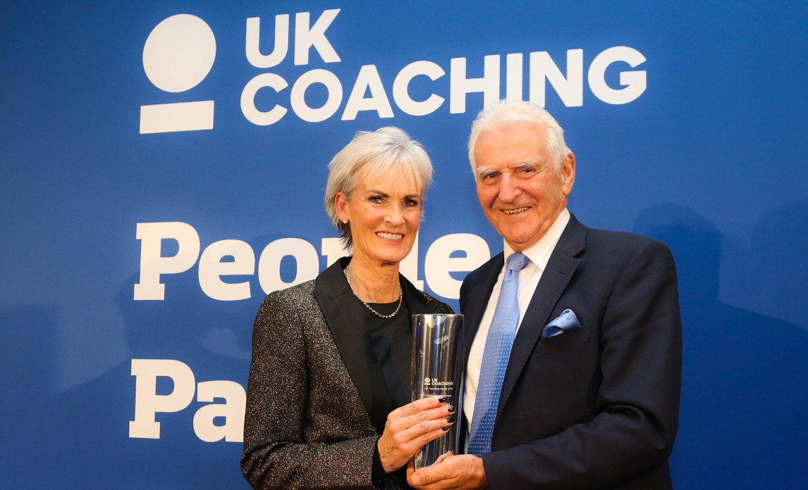 Lifetime achievement award judy murray (left) with coach frank dick (right)