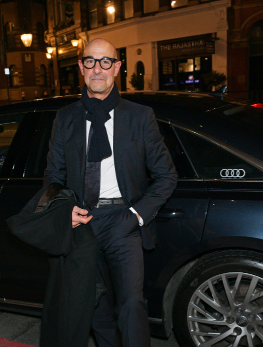 Stanley tucci arrives in an audi at the british independent film awards at old billingsgate, london, on sunday 01 december 2019