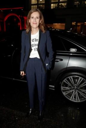 Joanna hogg arrives in an audi at the london critics' circle film awards, the may fair hotel, london, thursday 30 january 2020