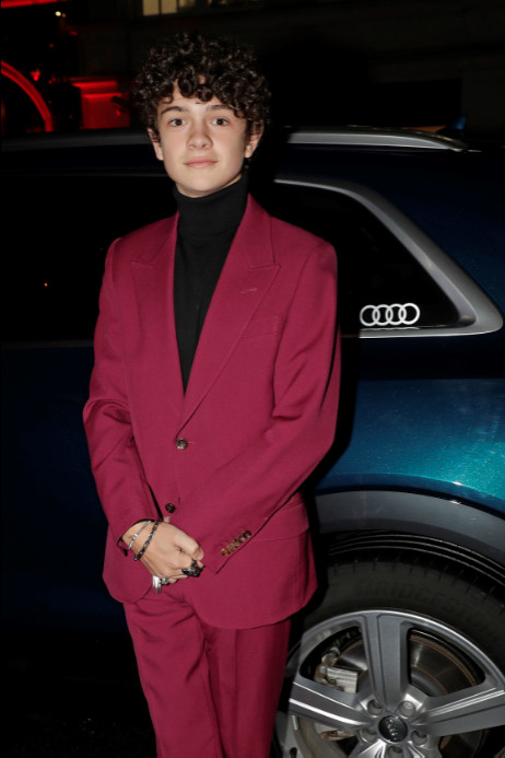 Noah jupe arrives in an audi at the london critics' circle film awards, the may fair hotel, london, thursday 30 january 2020 (2)