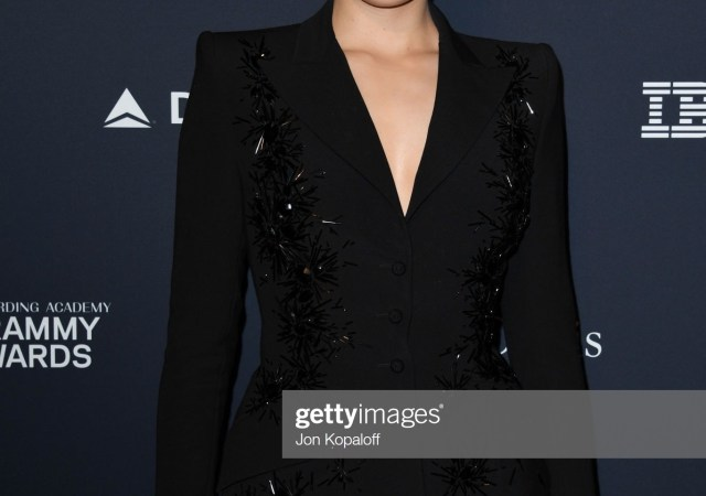 Yanina at pre grammy gala in los angeles