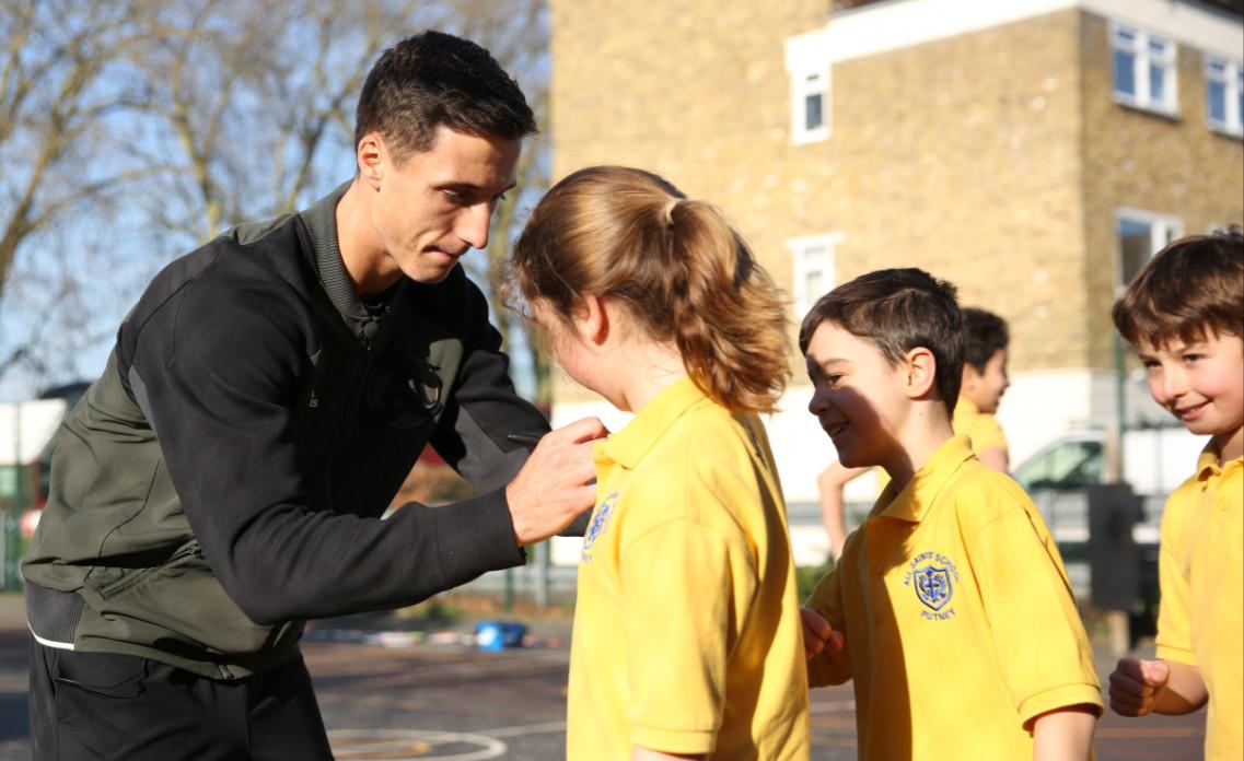 Joe salisbury inspires school kids