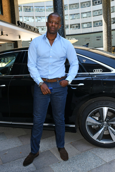 Adrian lester arrives in an audi at the virgin media british academy television awards 2020 at television centre, london, friday 31 july 2020 (2)