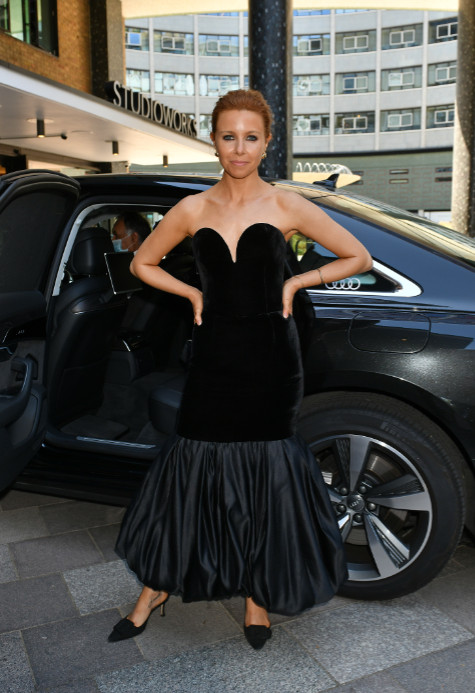 Stacey dooley arrives in an audi at the virgin media british academy television awards 2020 at television centre, london, friday 31 july 2020
