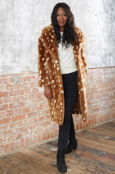 Katie bambi faux fur coat £279 jakke at the bias cut 5