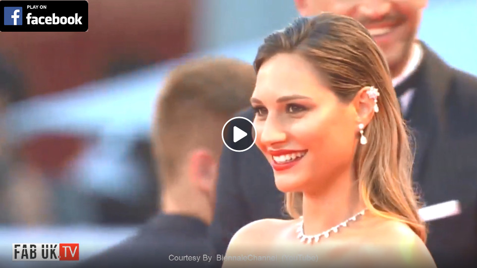Red carpet of the film padrenostro by claudio noce at 77th venice film festival 2020