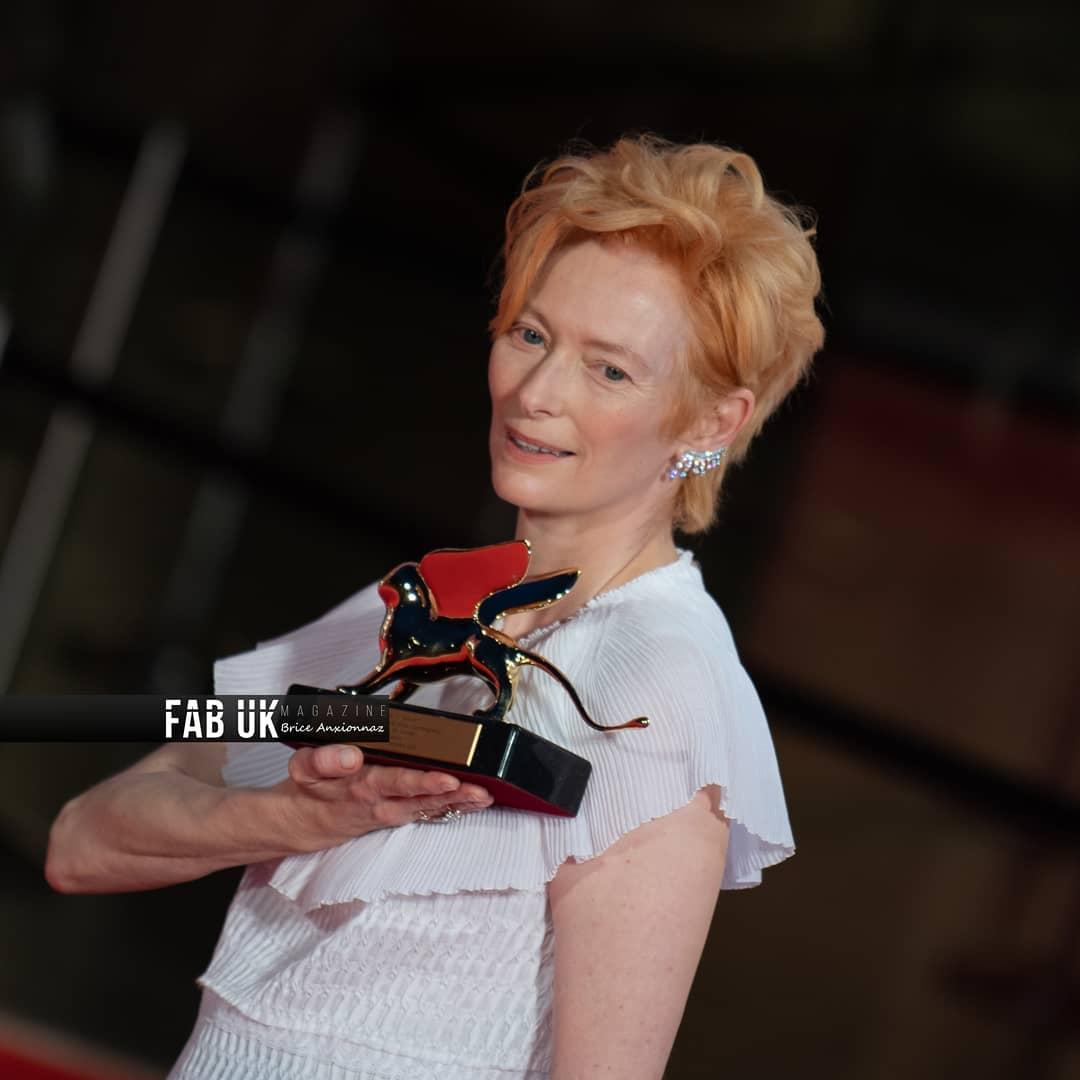 Tilda swinton at the opening ceremony of venice film festival (1)