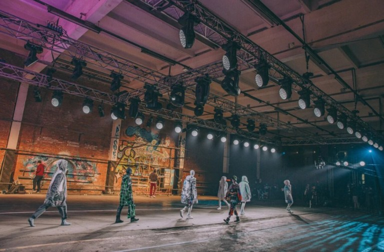 Designers from the russian capital presented their clothing collections at futurum moscow (2)