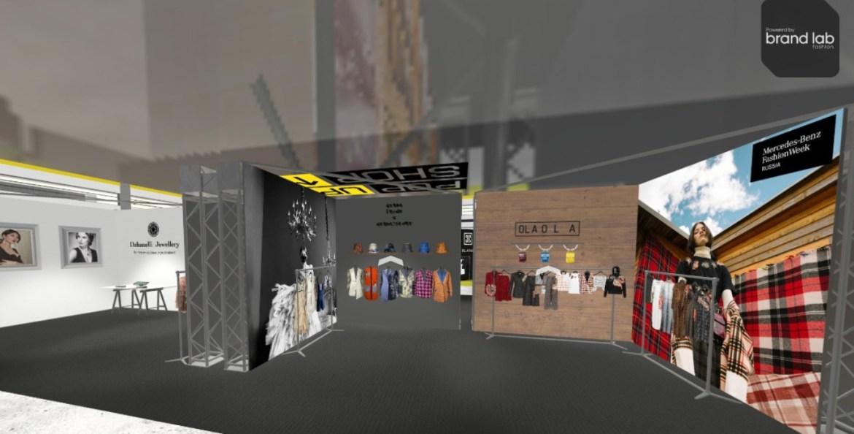 Virtual showroom pop up shop, corner ola ola