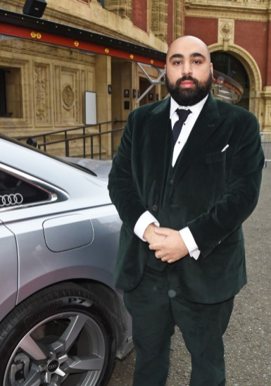 Asim chaudhry arrives in an audi at the ee british academy film awards 2021 at royal albert hall, london, sunday 11 april 2021