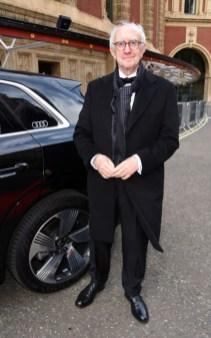 Jonathan pryce cbe arrives in an audi at the ee british academy film awards 2021 at royal albert hall, london, sunday 11 april 2021