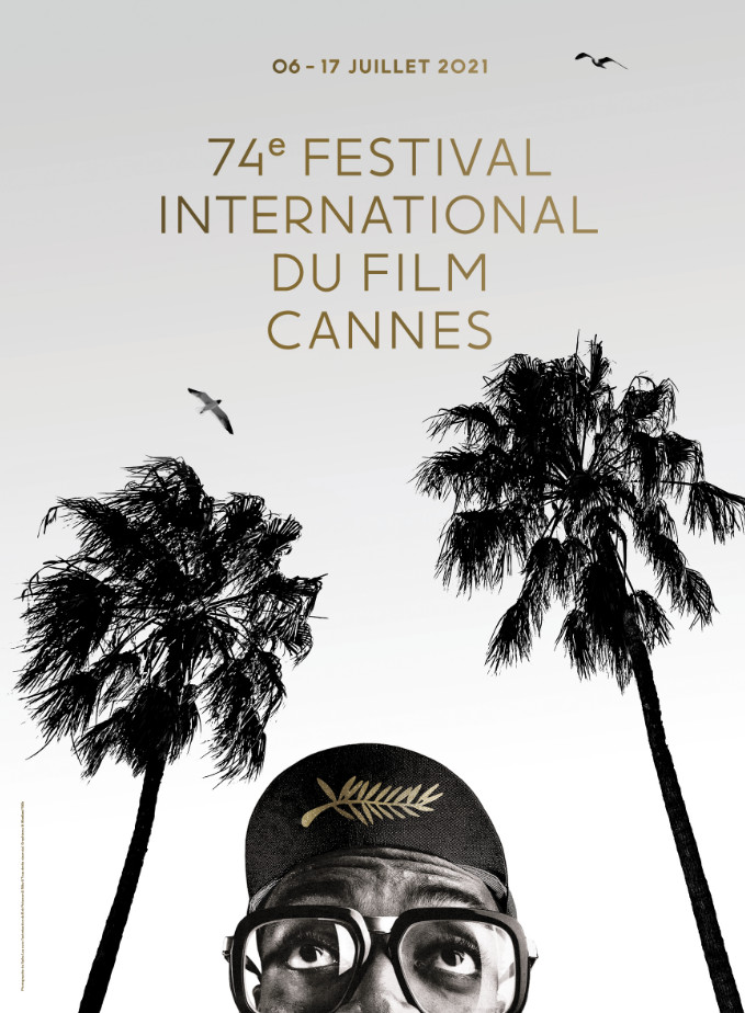 The poster of the cannes film festival 2021