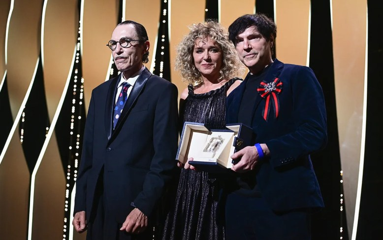 Valeria golino, ron mael and russell mael annette, award for best director image credit pascal le segretain getty images