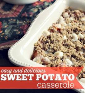 Easy and delicious sweet potato casserole recipe