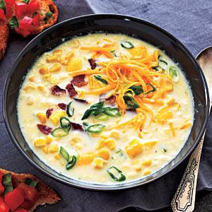 Summer Squash Corn Chowder Soup Recipe