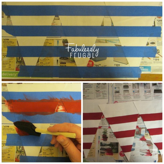 Painting Stripes on Pennants