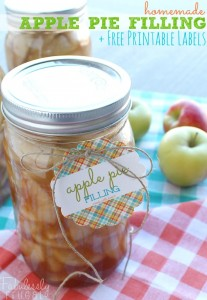homemade canned apple pie filling with free printable labels