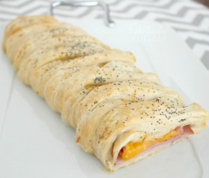 ham and cheese braid image