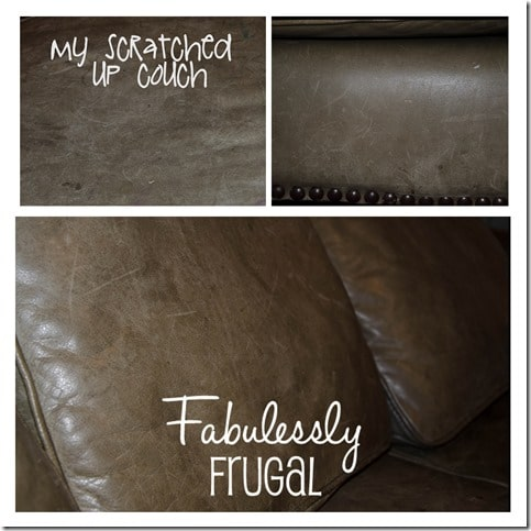 diy leather cleaner collage