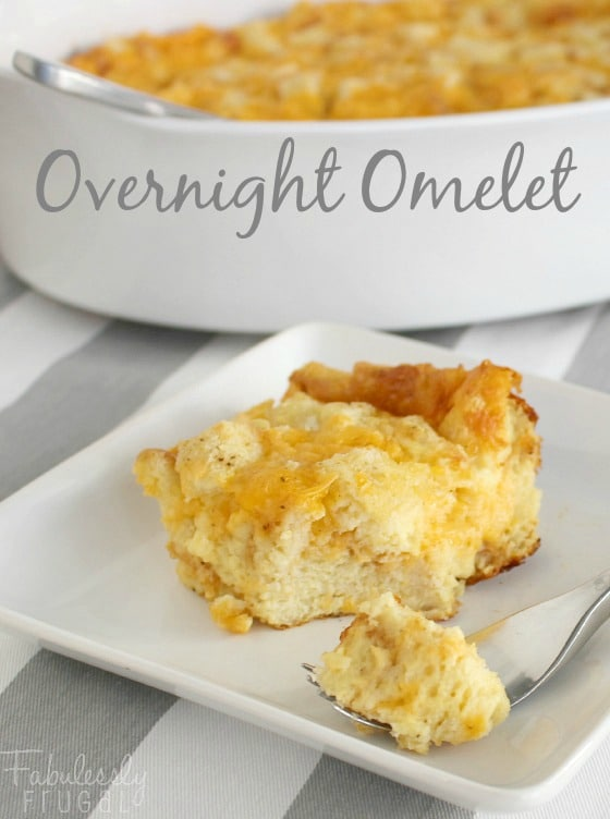 overnight egg omelet casserole breakfast recipe