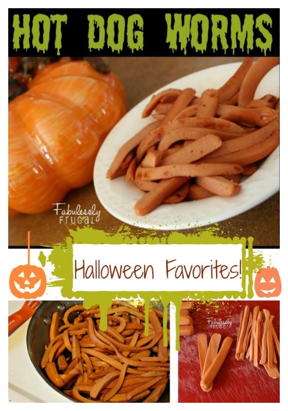 Hot Dog Worms Halloween Favorites