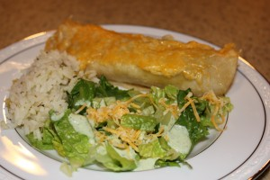 cafe rio style burrito and salad