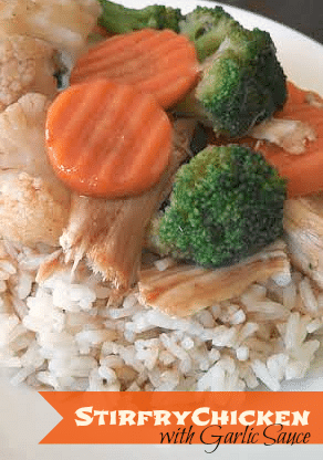 Stirfry Chicken with Garlic Sauce