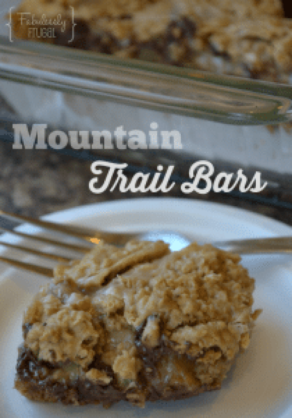 Mountain Trail Mix Bars - Find this recipe and more at fabulesslyfrugal.com