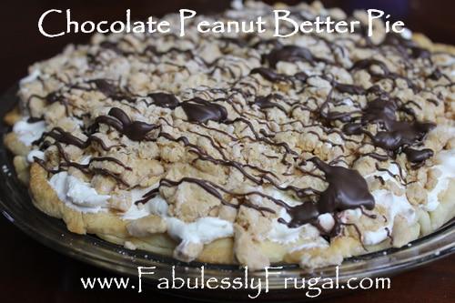 peanut butter chocoalte pie